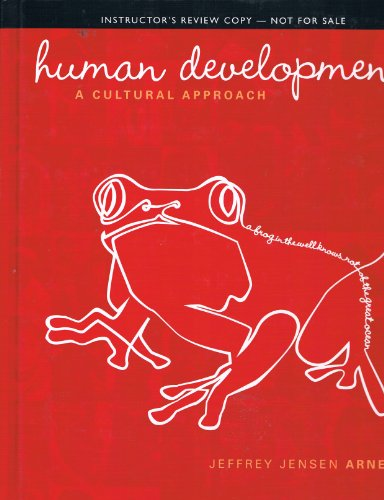 9780205186389: Human Development: A Cultural Approach (Instructor's Review Copy - 2012)