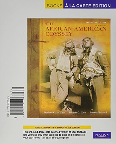 9780205192151: African-American Odyssey, The, Combined Volume, Books a la Carte Edition (5th Edition)