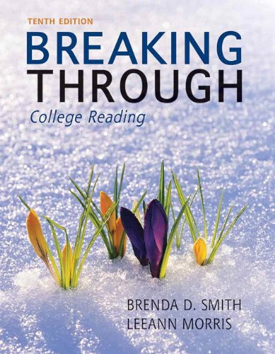 9780205193240: Breaking Through: College Reading