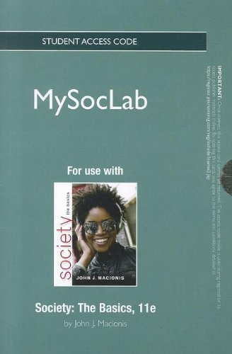 9780205194575: NEW MySocLab Student Access Code Card for Society: The Basics (standalone) (11th Edition)