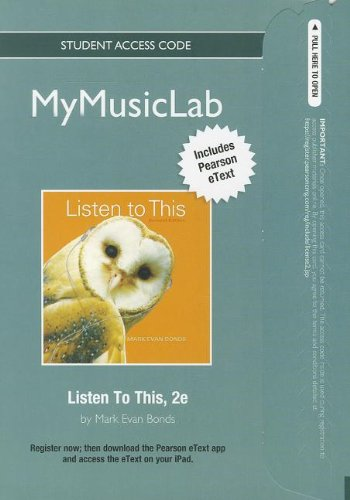 9780205194599: NEW MyMusicLab with Pearson eText -- Student Access Card - for Listen to This (2nd Edition) (MyMusicLab (Access Codes))