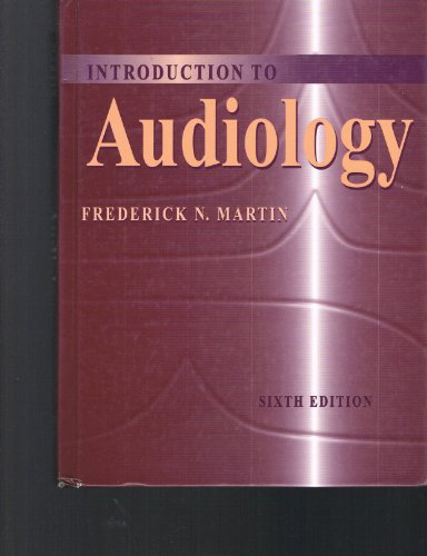 9780205195701: Introduction to Audiology