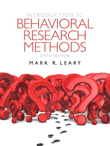 9780205196289: Introduction to Behavioral Research Methods Plus MySearchLab with eText -- Access Card Package (6th Edition)
