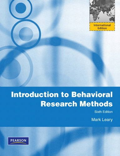 9780205197217: Introduction to Behavioral Research Methods