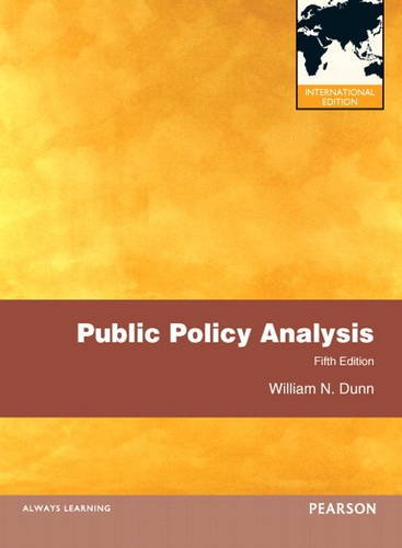 9780205197231: Public Policy Analysis: International Edition