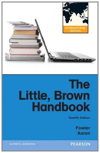 9780205197651: The Little, Brown Handbook: International Edition