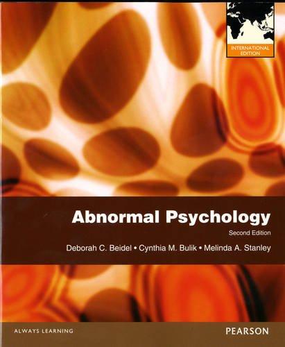 Abnormal Psychology International Editio: Deborah Beidel
