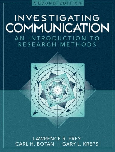 9780205198269: Investigating Communication: An Introduction to Research Methods (2nd Edition)
