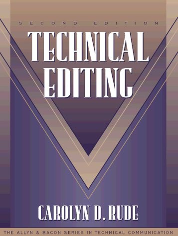 9780205200320: Technical Editing (Part of the Allyn & Bacon Series in Technical Communication)
