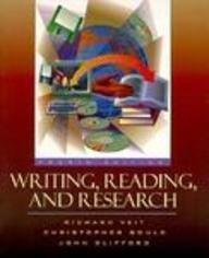 9780205200337: Writing, Reading, and Research