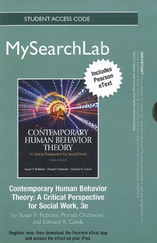 9780205201471: MySearchLab with Pearson eText -- Standalone Access Card -- for Contemporary Human Behavior Theory: A Critical Perspective for Social Work (3rd Edition)