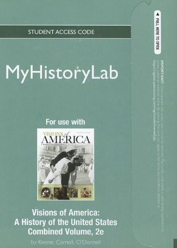 9780205202133: NEW MyHistoryLab without Pearson eText -- Standalone Access Card -- for Visions of America (2nd Edition) (Myhistorylab (Access Codes))