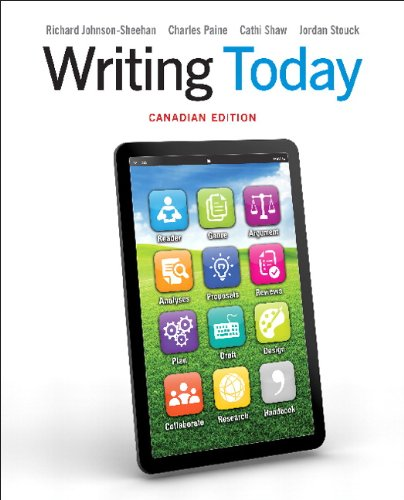 9780205203031: Writing Today, Canadian Edition