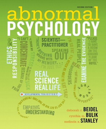 9780205205011: Abnormal Psychology (2nd Edition)