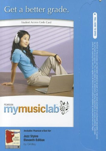 9780205206148: MyMusicLab with Pearson eText -- Standalone Access Card -- for Jazz Styles (11th Edition) (MyMusicLab (Access Codes))