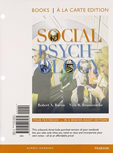 9780205206261: Social Psychology, Books a la Carte Edition (13th Edition)