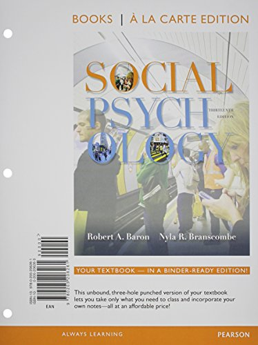 9780205206285: Social Psychology, Books a la Carte Plus NEW MyPsychLab with eText -- Access Card Package (13th Edition)