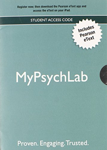 9780205206513: NEW MyPsychLab with Pearson eText -- Valuepack Access Card
