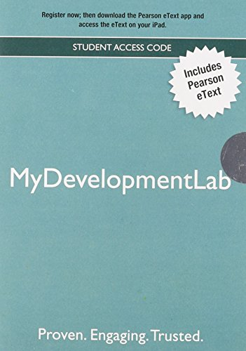 New MyDevelopmentLab with Pearson eText - Valuepack Access Card: Pearson