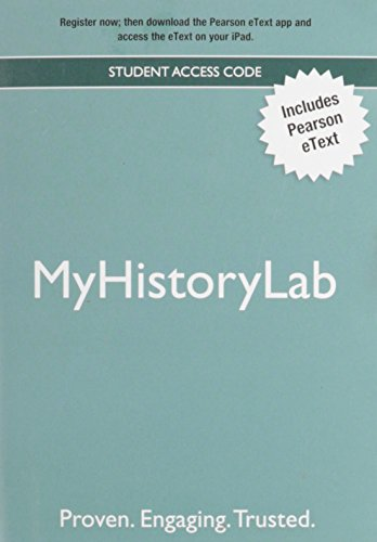 9780205206544: NEW MyHistoryLab with Pearson eText -- Valuepack Access Card