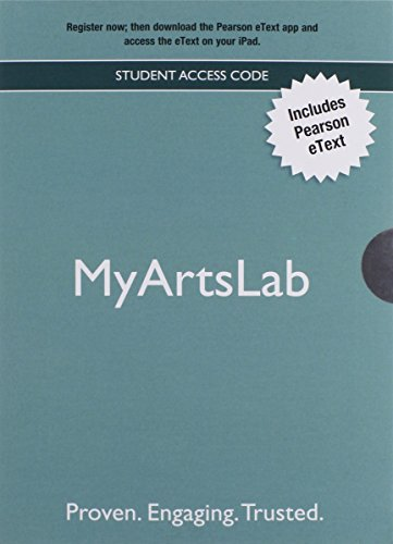 9780205206568: NEW MyLab Arts with Pearson eText -- Valuepack Access Card