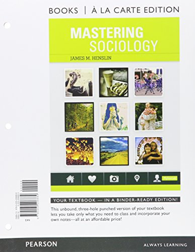 9780205206889: Mastering Sociology, Books a la Carte Edition