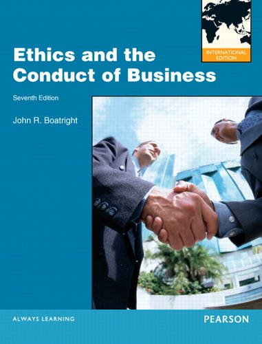 9780205207985: Ethics and the Conduct of Business. John R. Boatright