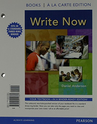 9780205210381: Write Now, Books a la Carte Edition