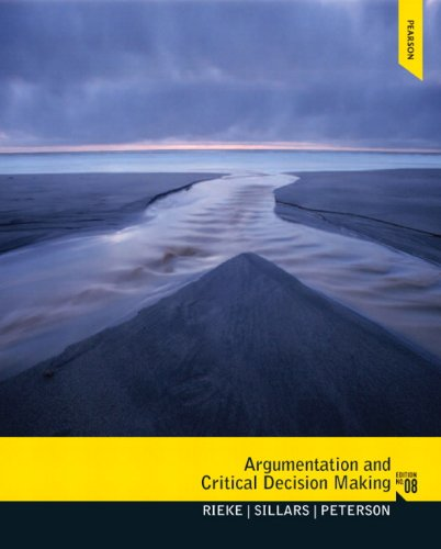 9780205210596: Argumentation and Critical Decision Making (8th Edition)