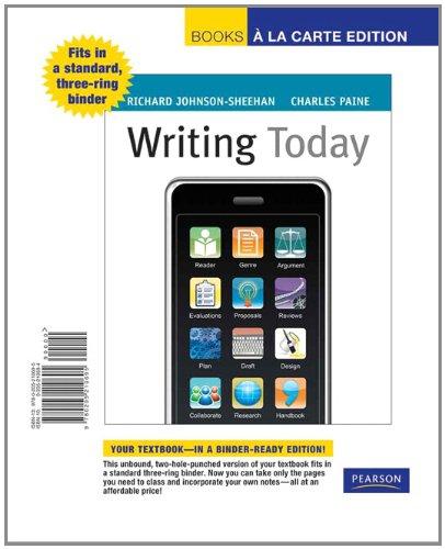 9780205210695: Writing Today, Books a la Carte Edition