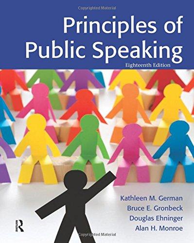 Principles of Public Speaking: German, Kathleen M.;