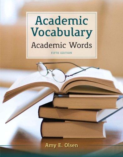 9780205211852: Academic Vocabulary: Academic Words (5th Edition)