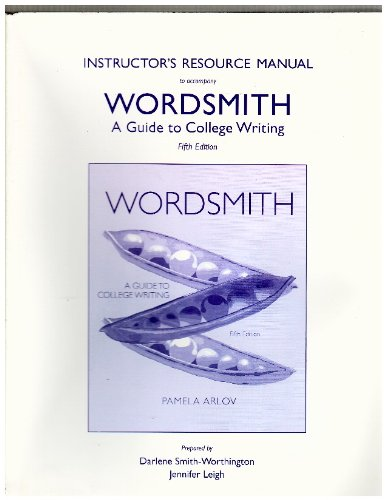 9780205212835: Instructors-resource-manual-to Accompany Wordsmith-a-guide-to-college-writing