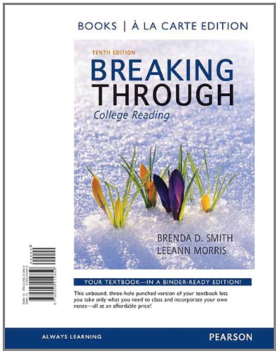 9780205212859: Breaking Through, Book a la Carte Edition (10th Edition)