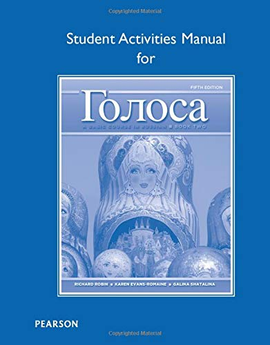 9780205214822: Student Activities Manual for Golosa: A Basic Course in Russian, Book Two