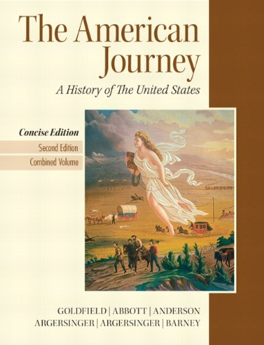9780205214945: The American Journey: A History of the United States, Concise Edition, 2nd Edition