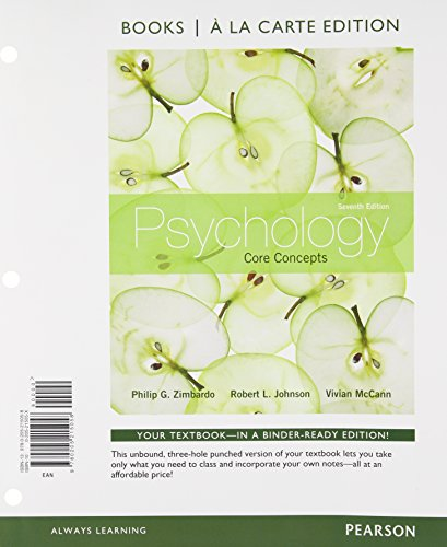 9780205215058: Psychology: Core Concepts, Books a la Carte Edition (7th Edition)