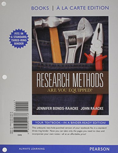 9780205215676: Research Methods: Are You Equipped?, Books a la Carte Edition