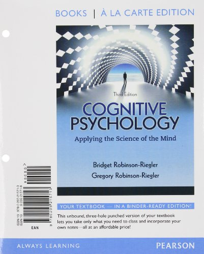 9780205215751: Cognitive Psychology: Applying The Science of the Mind, Books a la Carte Plus NEW MyPsychLab with eText -- Access Card Package (3rd Edition)