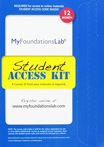 9780205216970: MyFoundationsLab V2.0 Without Pearson eText - Valuepack Access Card (12-Month Access)