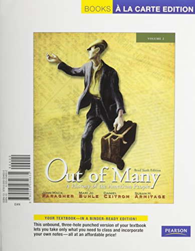 9780205218578: Out of Many: A History of the American People, Brief Edition, Volume 2 (Chapters 17-31), Books a la Carte Plus NEW MyLab History with eText -- Access Card Package (6th Edition)