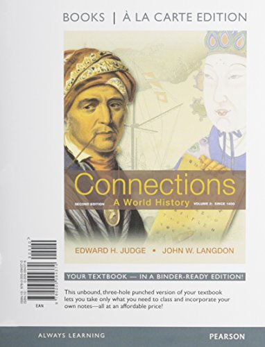 9780205218639: Connections: A World History, Volume 2, Books a la Carte Plus NEW MyHistoryLab with eText -- Access Card Package (2nd Edition)