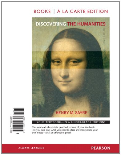 9780205219698: Discovering the Humanities, Books a la Carte Edition (2nd Edition)