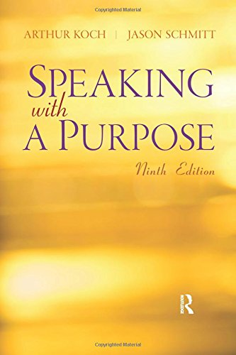 9780205220403: Speaking With A Purpose