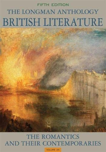 9780205223169: The Longman Anthology of British Literature, Volume 2A: The Romantics and Their Contemporaries (5th Edition)