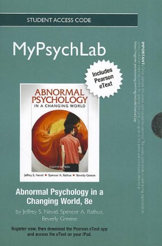9780205225828: NEW MyPsychLab with Pearson eText -- Standalone Access Card -- for Abnormal Psychology (8th Edition) (Mypsychlab (Access Codes))