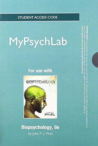 9780205226375: NEW MyPsychLab -- Standalone Access Card -- for Biopsychology (8th Edition)