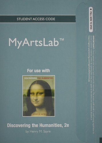 9780205226771: NEW MyArtsLab without Pearson eText -- Standalone Access Card -- for Discovering the Humanities (2nd Edition)