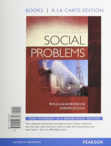 9780205228058: Social Problems, Books a la Carte Plus NEW MySocLab with eText -- Access Card Package (14th Edition)