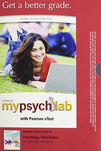 9780205228164: MyPsychLab with Pearson eText -- Standalone Access Card -- for Psychology  (3rd Edition)